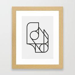No Colors Allowed Framed Art Print