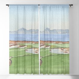 Tara Iti Golf Course New Zealand 17th Hole Sheer Curtain