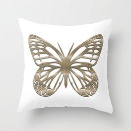 Cute Gold Buterfly Throw Pillow