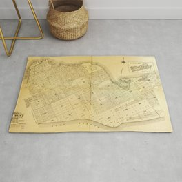 Map of Key West, Florida (1906) Rug