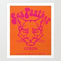 anchorman Art Prints featuring ANCHORMAN - Sex Panther  by John Medbury (LAZY J Studios)
