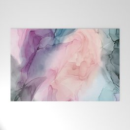 Dark and Pastel Ethereal- Original Fluid Art Painting Welcome Mat