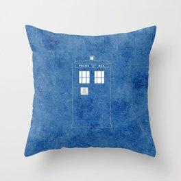 The Blue Box Throw Pillow
