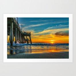 Sunset Splash Art Print