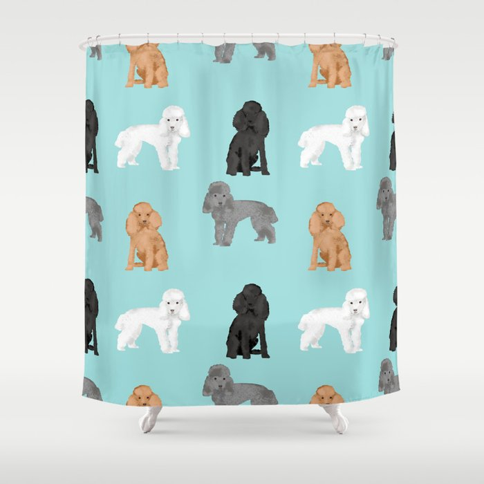 Toy Poodles Mixed Coat Colors Dog Breed Gifts Pet Portraits Must Haves Shower Curtain