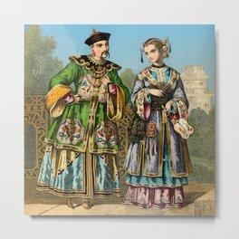 Chinese Costume 1856 Metal Print