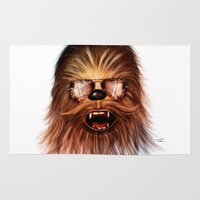 chewbacca Area & Throw Rugs featuring STAR WARS CHEWBACCA by Tom Brodie-Browne