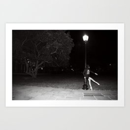Moonlight ballet Art Print
