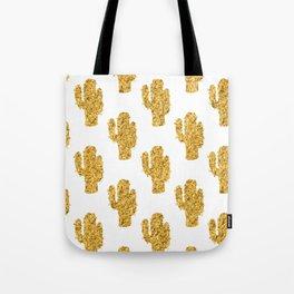 Cactus   Rustic Gold   Southwest Decor Pattern Tote Bag