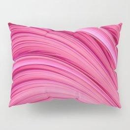 Dream Fiber III. Bubblegum Pink. Abstract Strands Pillow Sham