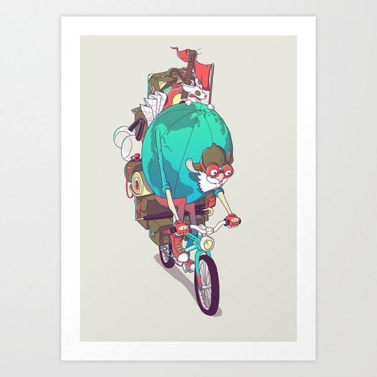 Mr. Traveler Art Print