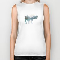 rhino Biker Tanks featuring Rhino  by O   N   E