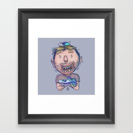 I Love Shoe Framed Art Print