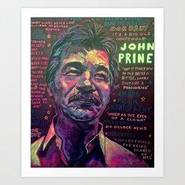 John Prine Art Print