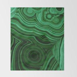 GREEN MALACHITE STONE PATTERN Throw Blanket