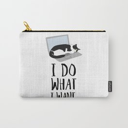 Cats Do What They Want Carry-All Pouch