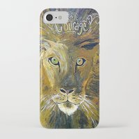 courage iPhone & iPod Cases featuring Courage by Anna Hanse