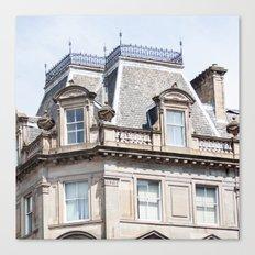 Glasgow rooftop Canvas Print