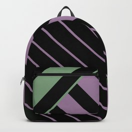 Diagonal Green and Violet Backpack