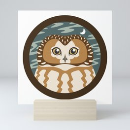 Northern Saw-whet Owl Mini Art Print