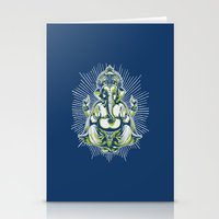ganesh Stationery Cards featuring Ganesh by Scalifornian