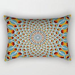 Watercolor Mandala Grunge - Magenta Blue Yellow Rectangular Pillow