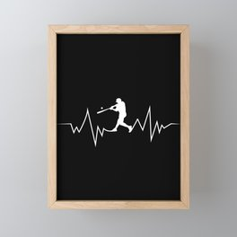 Baseball Heartbeat product Cool Gift for Sport Lovers Framed Mini Art Print