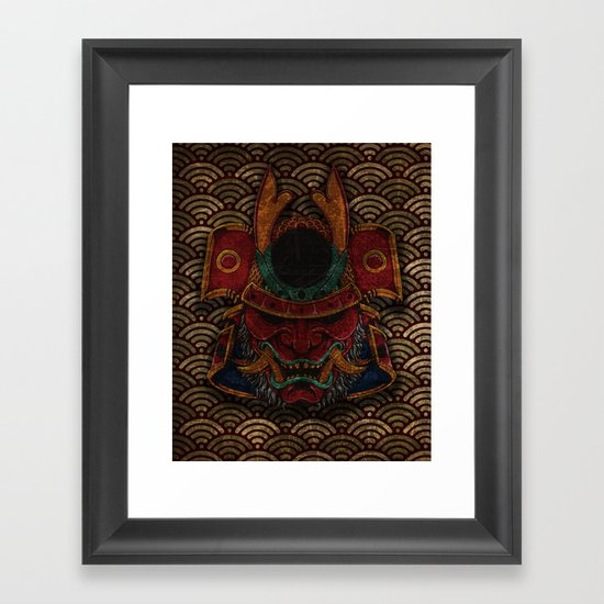 samurai mask Framed Art Print