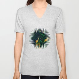 Rhapsody in Blue and Green and Gold Unisex V-Neck