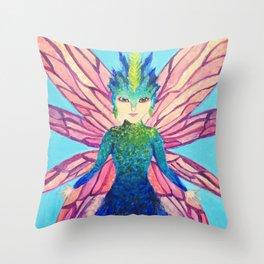 The modern tooth fairy Throw Pillow