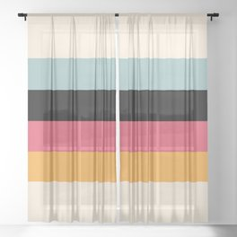 Classic Retro Baduhenna Sheer Curtain