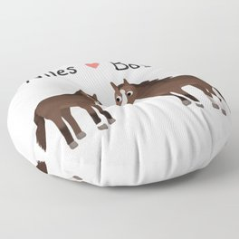 "Custom Artwork, ""Niles and Boss"" Floor Pillow"