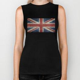 UK Flag, Dark grunge 1:2 scale Biker Tank