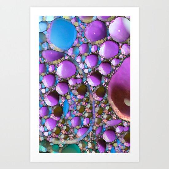 Green Purple and Blue Art Print