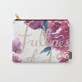 Roses - Fullness of Joy Psalm 16:11 Carry-All Pouch