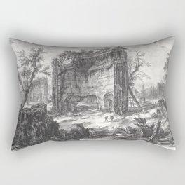 Giovanni Battista Piranesi - The baths fo Trajan (Erroneously called baths of Titus) Rectangular Pillow