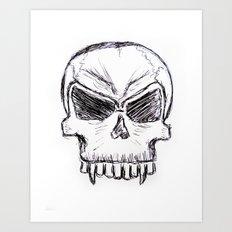 Sumpin' Wicked Comes - Original Ink Sketch Art Print