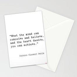 Norman Vincent Peale quote 2 Stationery Cards