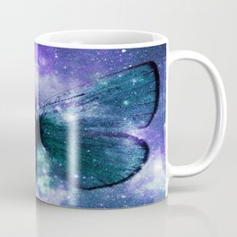 Celestial Butterfly Violet Turquoise Teal Coffee Mug