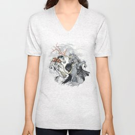 Retold with Unicorns II Unisex V-Neck