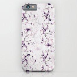 Lovely Mauve Magnolia Blossoms iPhone Case