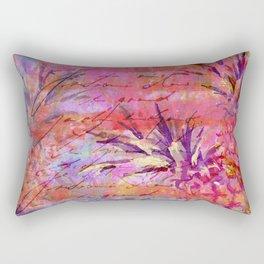 Pineappel tropical fruit colorful illustration Rectangular Pillow