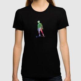 Man skateboard 08 in watercolor T-shirt