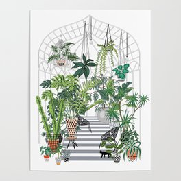 greenhouse illustration Poster