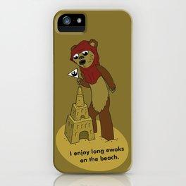 I Enjoy Long Ewoks on the Beach iPhone Case