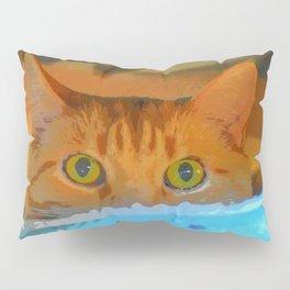Sir Watson Tabby Digital Cat Pillow Sham