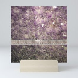 Diamonds and Crystals Mini Art Print