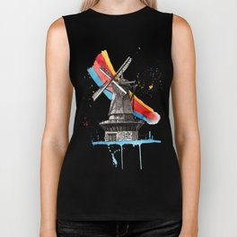The Windmill and the Rainbow Biker Tank