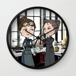 Woman in Science: The Curies Wall Clock