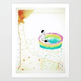 float. Art Print